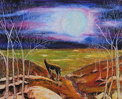 Painting - Deer On The Plain by Jeanne Fischer