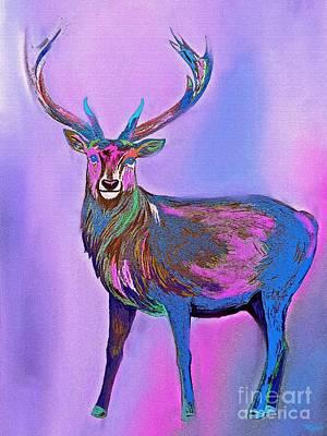Painting - Deer Rainbow by Saundra Myles