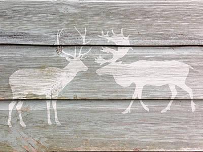 Digital Art - Deer Talk by Celestial Images