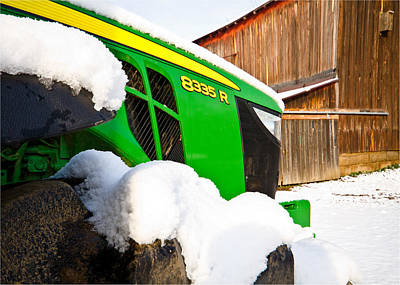 Barns In Snow Photograph - Deere In Snow by Tim Fitzwater