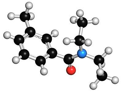 Meta Photograph - Deet Insect Repellent Molecule by Molekuul