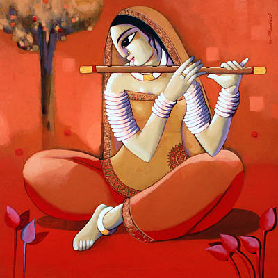 Indian Contemporary Artist Painting - Deevoti by Sekhar Roy