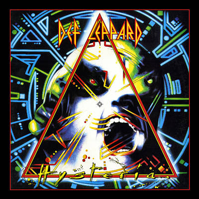 Album Photograph - Def Leppard - Hysteria 1987 by Epic Rights