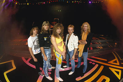 Heavy Metal Photograph - Def Leppard - Round Stage 1987 by Epic Rights