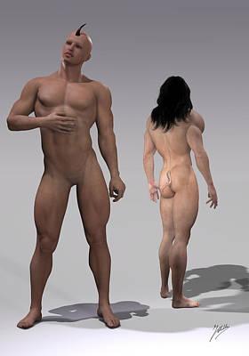 Defective Creations Of Adam Art Print