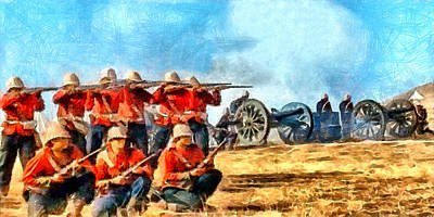 Digital Art - Defend The Artillery by Digital Photographic Arts
