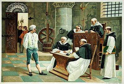 Confessions Photograph - Defendant Before The Spanish Inquisition by David Parker