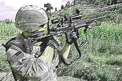 Weapons Photograph - Defense by VRL Art