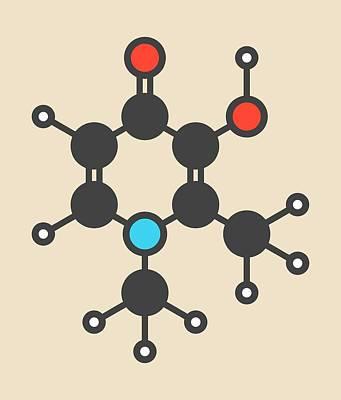 Deferiprone Thalassaemia Drug Molecule Art Print