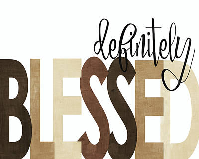 Definitely Blessed Neutral Art Print by Alli Rogosich