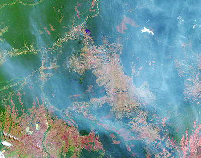 Impact Photograph - Deforestation In The Amazon by Nasa Earth Observatory