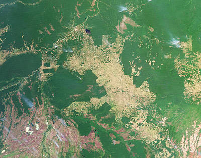 Deforestation Photograph - Deforestation In The Amazon by Nasa Earth Observatoryscience Photo Library