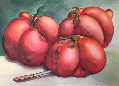 Painting - Deformed Tomatoes by Randol Burns