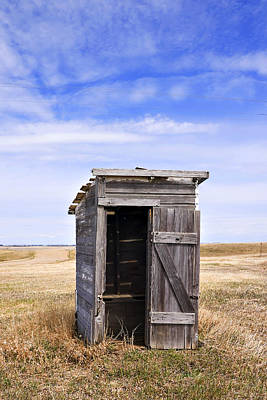 Defunct Outhouse At Rural Elementary School Art Print
