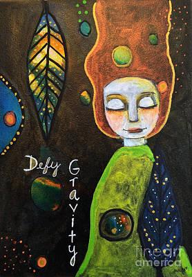 Painting - Defy Gravity 2 by AnaLisa Rutstein
