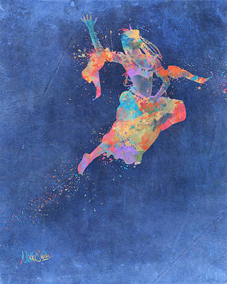 Defy Gravity Dancers Leap Art Print by Nikki Marie Smith