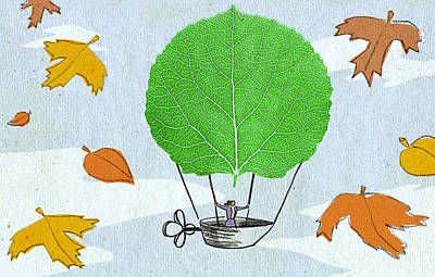 Autumn Leaf Drawing - Defying Autumn by Steve Dininno