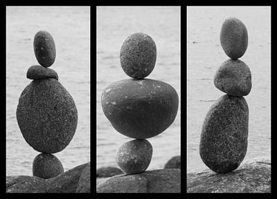 Photograph - Defying Gravity Triptych by Ramona Johnston