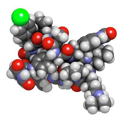 Degarelix Prostate Cancer Drug Molecule Art Print by Molekuul