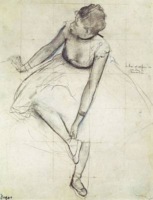 Degas, Edgar 1834-1917. A Dancer Art Print by Everett