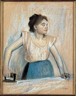 On Paper Photograph - Degas Edgar, Woman Ironing, 1869, 19th by Everett
