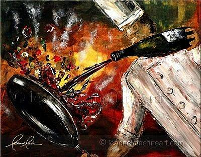 Wine Rack Painting - Deglazify Wine Art Painting by Leanne Laine