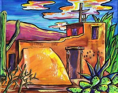 Saguaro Painting - Degrazia by Alexandria Winslow