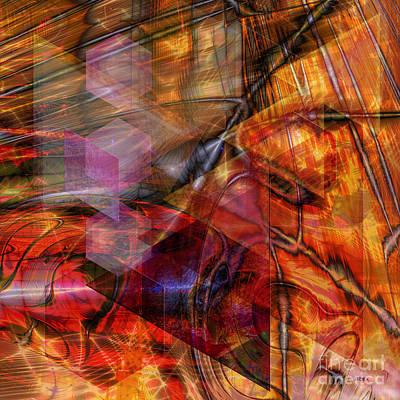 Digital Art - Deguello Sunrise - Square Version by John Beck