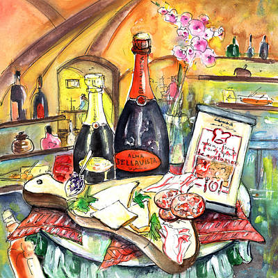 Painting - Degustation In Bergamo by Miki De Goodaboom