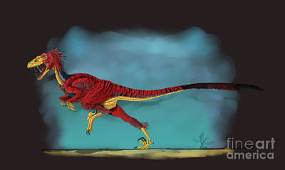 Deinonychus, A Genus Of Carnivorous Print by Stocktrek Images