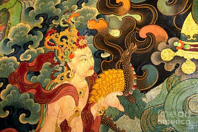 Photograph - Deity With Nagas - Sera Monastery Lhasa by Craig Lovell