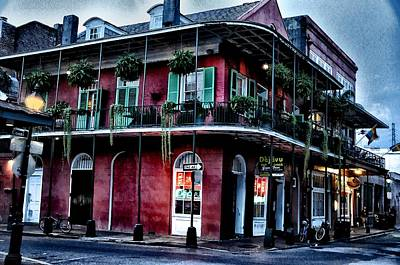 Deja Vu - Bourbon Street Art Print by Bill Cannon