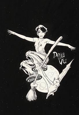 T-shirt Designs Drawing - Deja Vu by Richard Moore