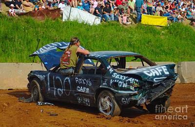 Dejected Derby Driver Art Print by Ray Konopaske