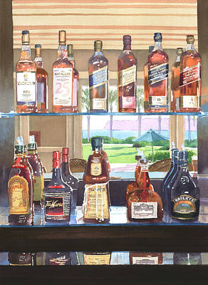 Scotch Painting - Del Coronado Spirits by Mary Helmreich