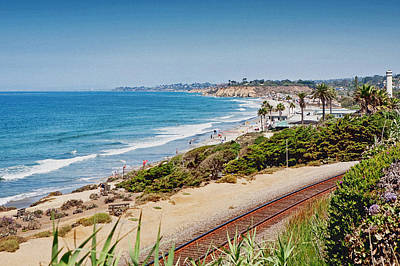Susan Schmitz Photograph - Del Mar Beach California by Susan Schmitz