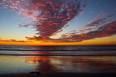 Photograph - Del Mar Sunset 14 by Randy Bayne