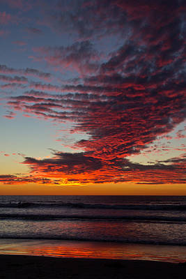 Photograph - Del Mar Sunset 16 by Randy Bayne