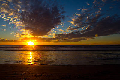 Photograph - Del Mar Sunset 7 by Randy Bayne