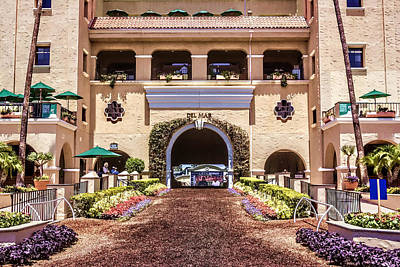 Digital Art - Del Mar Thoroughbred Club by Photographic Art by Russel Ray Photos