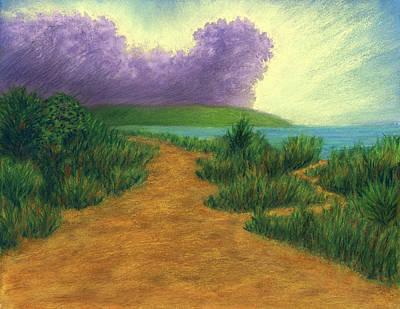 Pastel - Del Mar Trails 03 by Michael Heikkinen