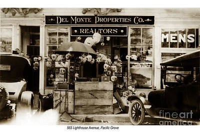 Photograph - Del Monte Properties Company Pacific Grove Circa 1923 by California Views Archives Mr Pat Hathaway Archives