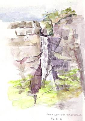 Painting - Del Sano Falls by David  Hawkins