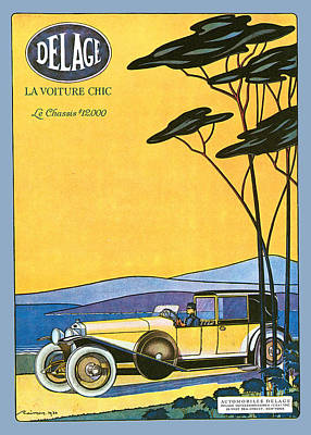 Photograph - Delage by Vintage Automobile Ads and Posters