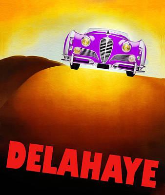 Delahaye Photograph - Delahaye Auto Poster II by Mark Rogan