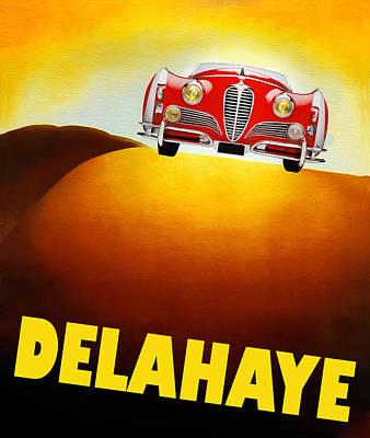 Delahaye Photograph - Delahaye Auto Poster by Mark Rogan