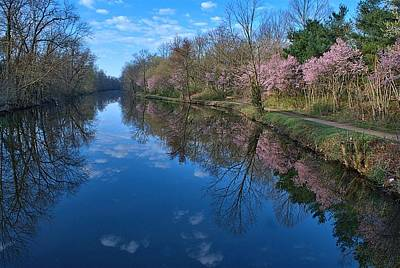 Princeton Photograph - Delaware And Raritan Canal Turning Basim by Steven Richman