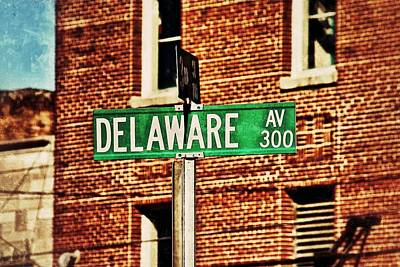Photograph - Delaware Avenue Street Sign by Jim Albritton
