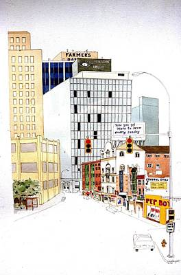 Art Print featuring the painting Delaware Avenue by William Renzulli