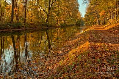 Photograph - Delaware Canal Fall Foliage by Adam Jewell